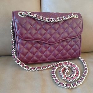 Rebecca Minkoff Quilted Mini Affair Bag Burgundy